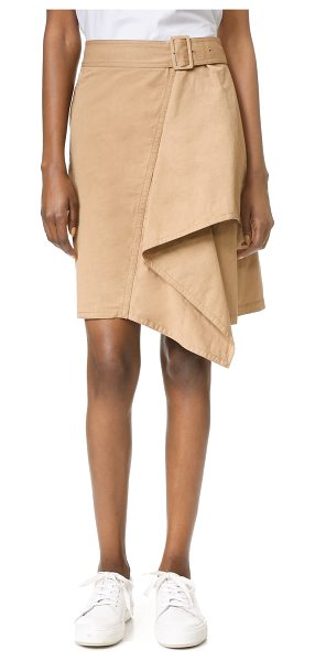 3.1 PHILLIP LIM trench skirt with cascading drape - A draped, cascading panel brings unique asymmetry to...
