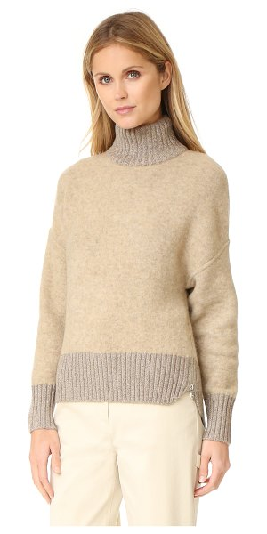 3.1 Phillip Lim turtleneck cocoon pullover in nude - A luxe double knit 3.1 Phillip Lim sweater with...