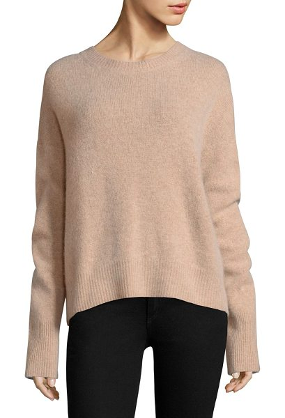 360Cashmere alexa crewneck sweater in nude - Classic crewneck sweater. Crewneck. Long sleeves....