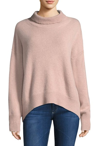 360Cashmere cashmere turtleneck in rose quartz - Cashmere sweater finished in knitted stitching....