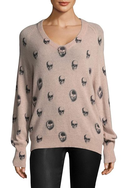 360CASHMERE riley v-neck skull cashmere sweater - Cashmere sweater finished with printed all over.V-neck....
