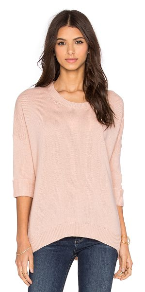360Sweater Chambers crew neck sweater in blush - 100% cashmere. Dry clean only. 360S-WK348. 28142....