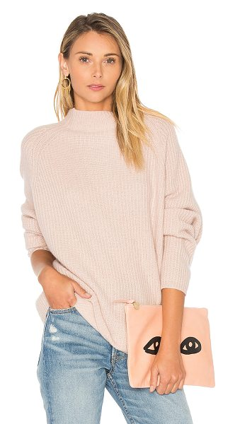 360Sweater Effie Sweater in blush - 100% cashmere. Dry clean only. Knit fabric. 360S-WK441....