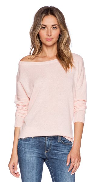 360Sweater Ellis pullover in pink - 100% cashmere. Dry clean only. 360S-WK274. 26142....