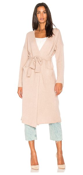 360Cashmere Kris Long Cardigan in rose - 100% cashmere. Dry clean only. Open front. Side pockets....