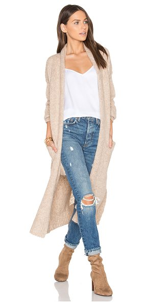 360Sweater Margaux Cardigan in tan - 40% polyacrylic 36% alpaca 14% wool 10% polyamide. Dry...