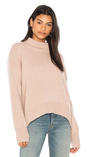 360Cashmere Olive Turtleneck Sweater in rose - 100% cashmere. Dry clean only. Rib knit fabric....