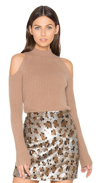 360SWEATER x REVOLVE Gianna Cold Shoulder - 100% cashmere. Dry clean only. Rib knit fabric. Shoulder...