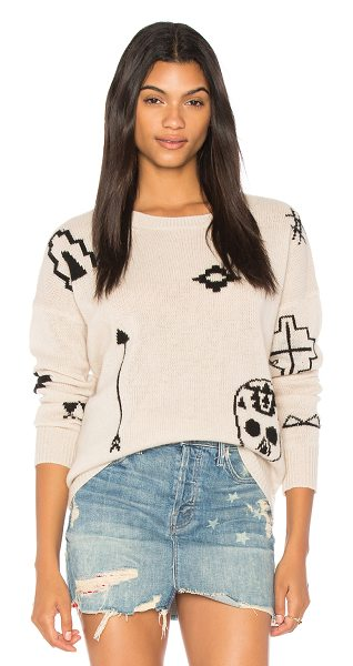360Cashmere Xandra Skull Sweater in cream - 100% cashmere. Dry clean only. Knit fabric. Rib knit...