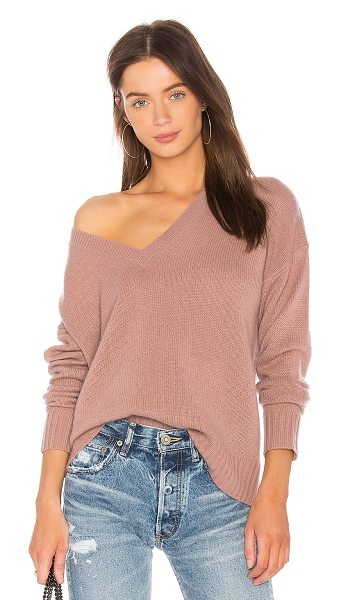 360CASHMERE 360 Sweater Violet Sweater - 100% cashmere. Dry clean only. Rib knit trim....