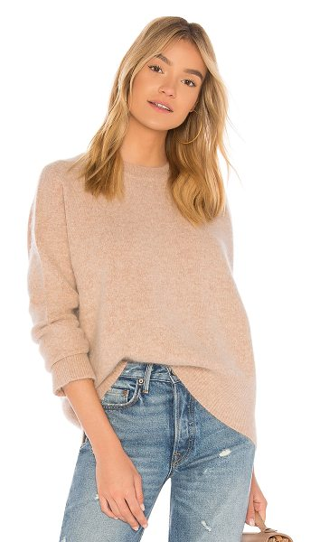 360Cashmere Alexa Wool Pullover in beige - 70% wool 30% dehaired raccoon yarn. Dry clean only. Rib...