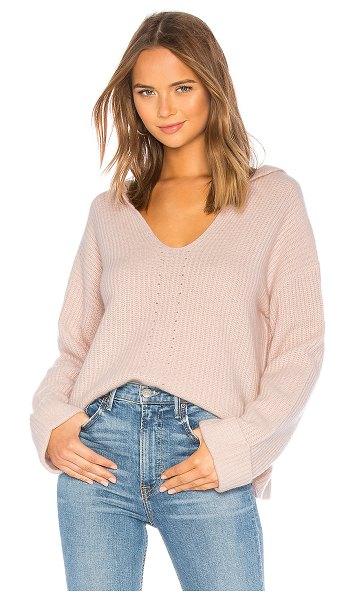 360Cashmere Eloise Hoodie in rose - 100% cashmere. Dry clean only. Attached hood. Cuffed...