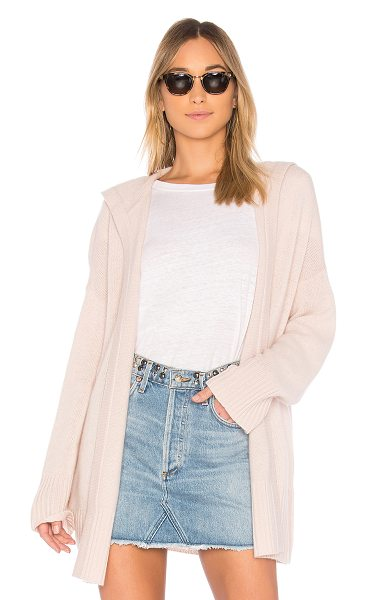 360Cashmere Erin Cardigan in pink - 100% cashmere. Dry clean only. Open front. Side seam...