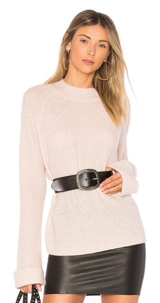 360Cashmere Esme Sweater in pink - 100% cashmere. Dry clean only. Rib knit fabric....