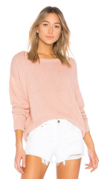 360Cashmere Rosy Sweater in rose - 90% cotton 10% nylon. Hand wash cold. Fuzzy knit fabric....