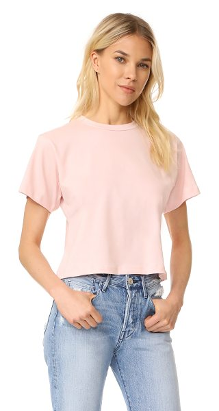 3x1 boyfriend crew neck tee in blush - A slouchy 3x1 tee with a cropped profile. Crew neckline....