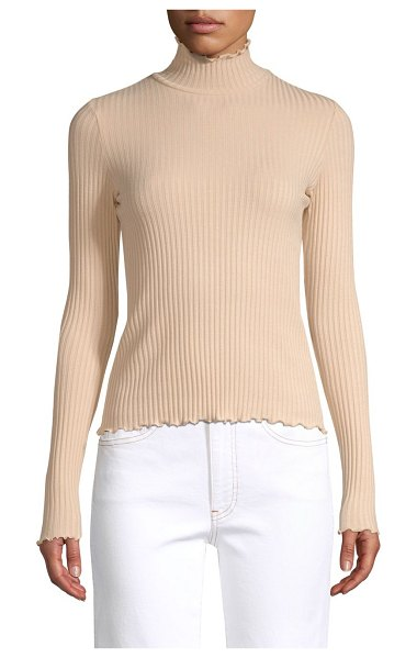 3x1 ribbed turtleneck in nude