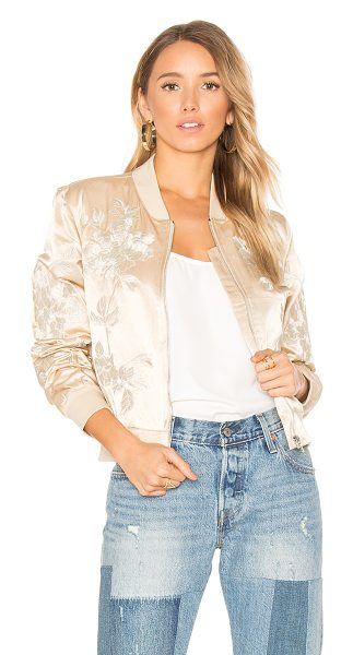 3x1 Suka Bomber Jacket in champagne - Shell: 70% cotton 30% rayonLining: 100% polyTrim: 95%...