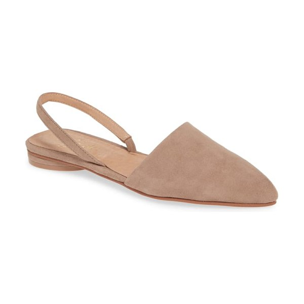 42 GOLD cab pointy toe slingback flat in beige