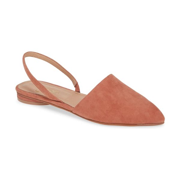42 GOLD cab pointy toe slingback flat in pink