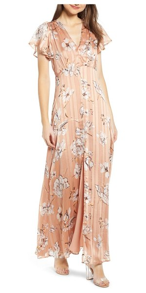 4SI3NNA floral satin maxi dress in pink