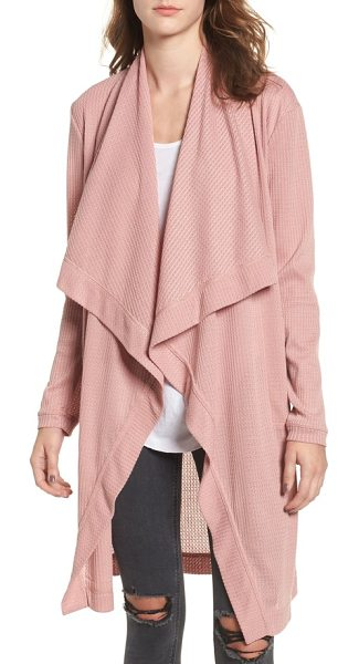 4SI3NNA open front cardigan in mauve - With a drapey front and soft, lightweight construction,...