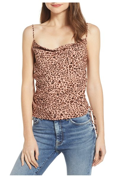 4SI3NNA drawstring detail cowl neck camisole in pink