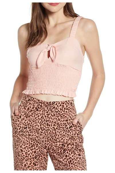 4SI3NNA tie neck smock top in pink