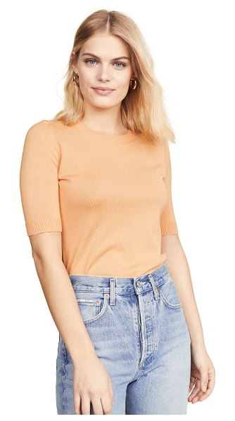 525 America 3/4 sleeve tee in tango - Fabric: Fine knit Ribbed edges Pullover style...