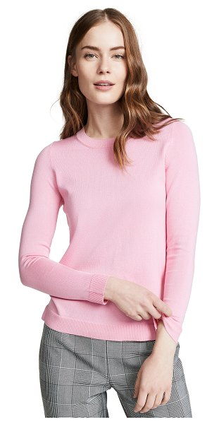 525 America crew neck sweater in seashell pink