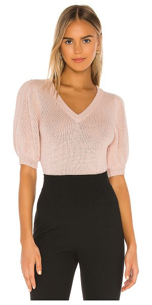 525 America short sleeve puff pullover in chalk pink