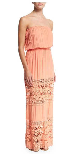 "6 Shore Road Charlotte strapless maxi dress in watermelon - 6 Shore Road by Pooja ""Charlotte"" maxi dress with floral..."