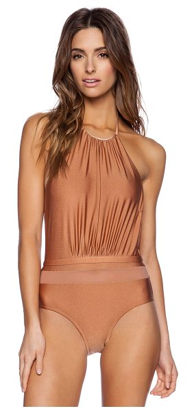 6 Shore Road Fridas one piece in metallic bronze