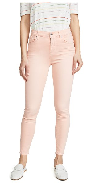 7 For All Mankind high rise skinny jeans in peach