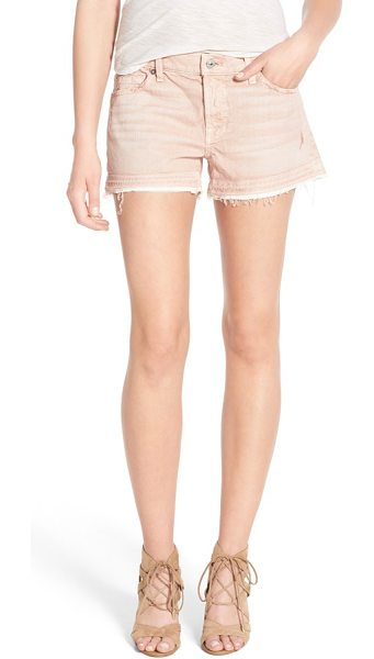 7 For All Mankind 7 for all mankind released hem denim shorts in pink - Frayed, released hems add time-worn character to...