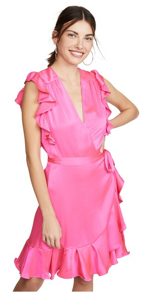 7 For All Mankind sleeveless ruffle wrap dress in paradise pink