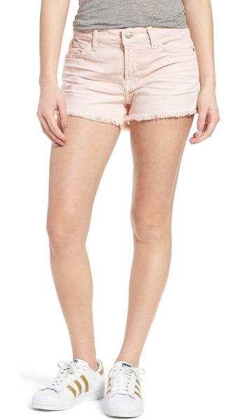 7 For All Mankind 7 for all mankind cutoff denim shorts in sun bleached peony - Soft, stretchy and perfectly worn-in, these colorful...