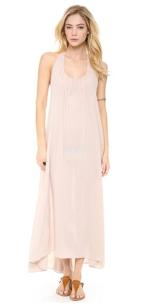 9seed Biarritz halter maxi cover up dress in sand - Exclusive to Shopbop. A neutral crepe cover up has...