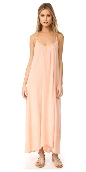 9seed tulum maxi dress in rose gold - A feather-light 9seed cover-up, cut from soft gauze....