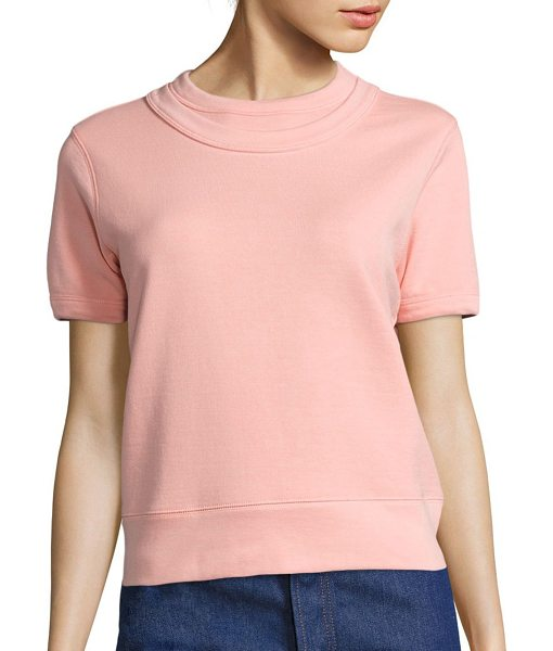 A Detacher ingrid short-sleeve sweatshirt in blush - Short-sleeve sweatshirt made from cotton. Roundneck....