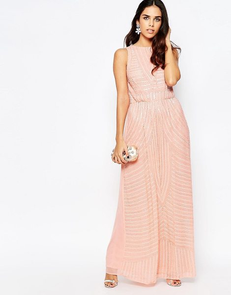 A STAR IS BORN All Over Embellished High Neck Maxi Dress - Maxi dress by A Star Is Born, Lined mesh, Heavyweight...