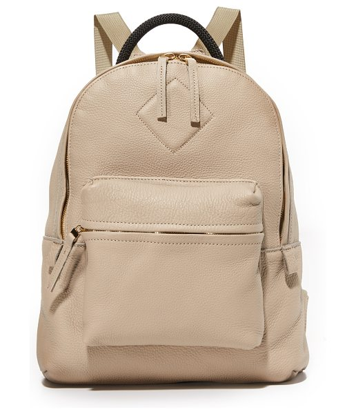AANDD petite backpack in clay - A petite AANDD backpack in luxe, pebbled leather. Zip...