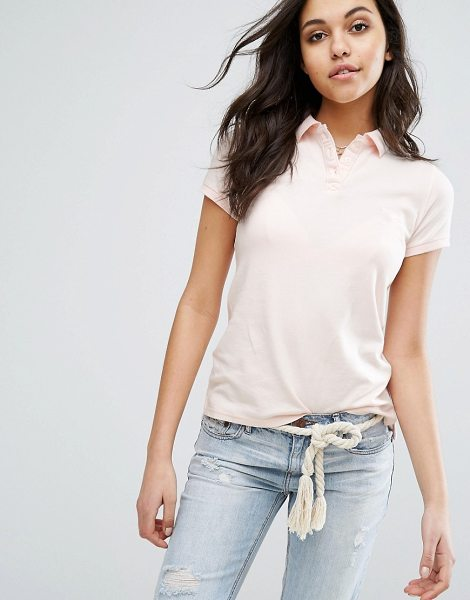 "Abercrombie & Fitch polo shirt in pink - """"Top by Abercrombie Fitch, Breathable stretch pique,..."