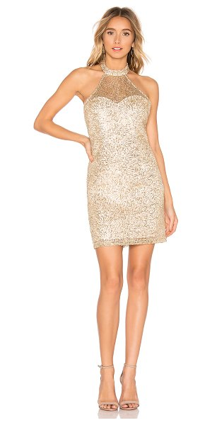 About Us sunny halter mini dress in gold