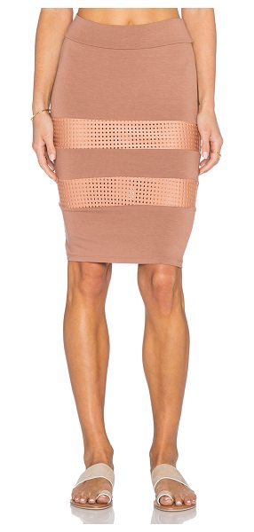 Acacia Swimwear Casablanca skirt in brown - 90% rayon 10% lycra. Hand wash cold. Skirt measures...