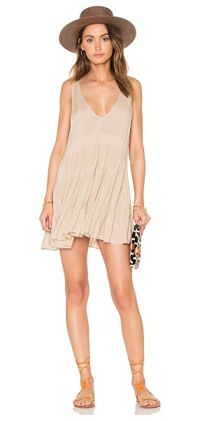 Acacia Swimwear Havana Mini Dress in clay - 100% rayon. Hand wash cold. Unlined. ACAC-WX395....