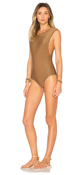 Acacia Swimwear Mesh Cloud9 One Piece in brown - Holier than thou. Meet Acacia Swimwear's Cloud9 One...
