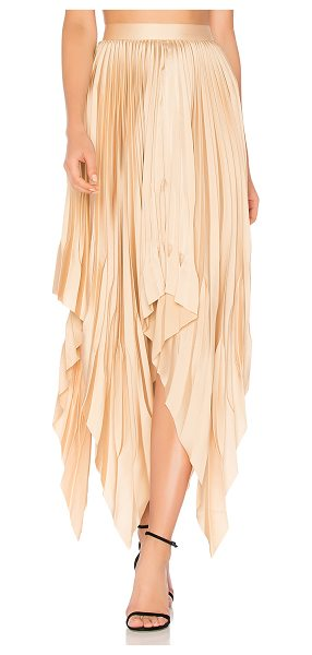 Acler Cedar Pleat Skirt in peach - 100% poly. Dry clean only. Unlined. Accordion pleated...