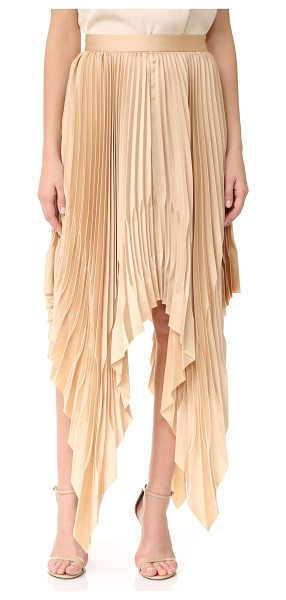 Acler cedar pleat skirt in almond - Crisp pleats lend graceful movement to this Acler skirt....