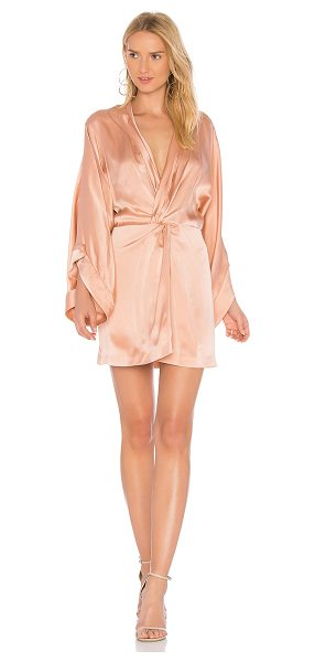 Acler Eden Silk Dress in pink - Silk blend. Dry clean only. Unlined. Twisted front...